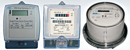 DSM China Single-phase Electronic Meters