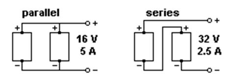 parallel and serial connection of solar panels