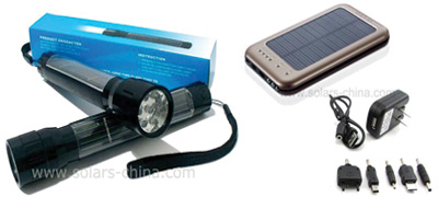 solar flashlight and solar charger